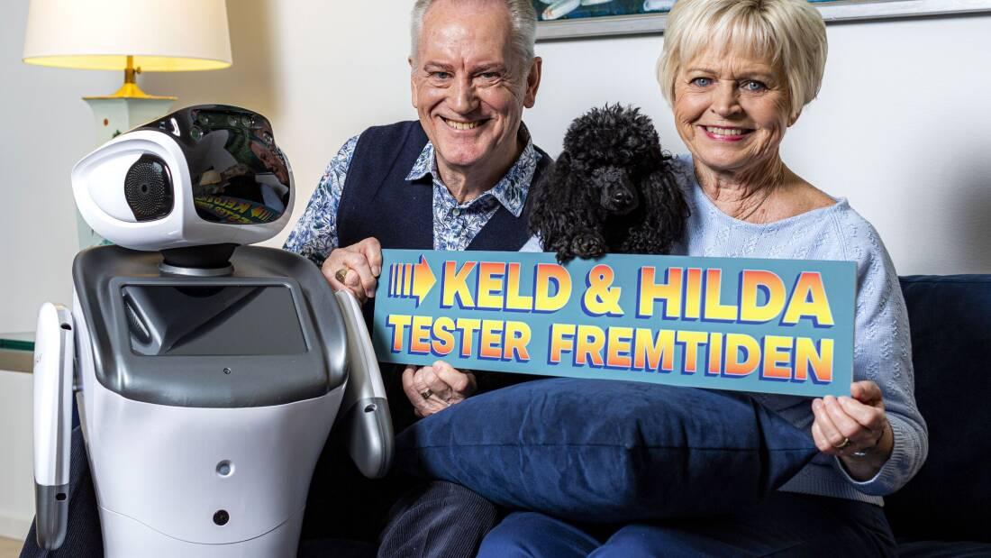 Robotten Olga fra DR programmet Keld og Hilda tester fremtiden.