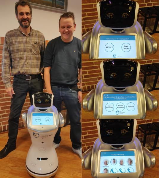 Robot modtager borgere i Holstebro kommune